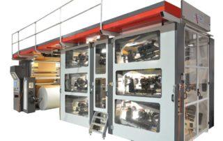Macchina da stampa flexografica di tipo stack a 6 colori full gearless ad elevate prestazioni