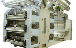 Macchina da stampa flexografica di tipo stack a 6 colori tradizionale